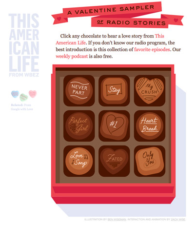 A Valentine Sampler of Radio Stories Screenshot